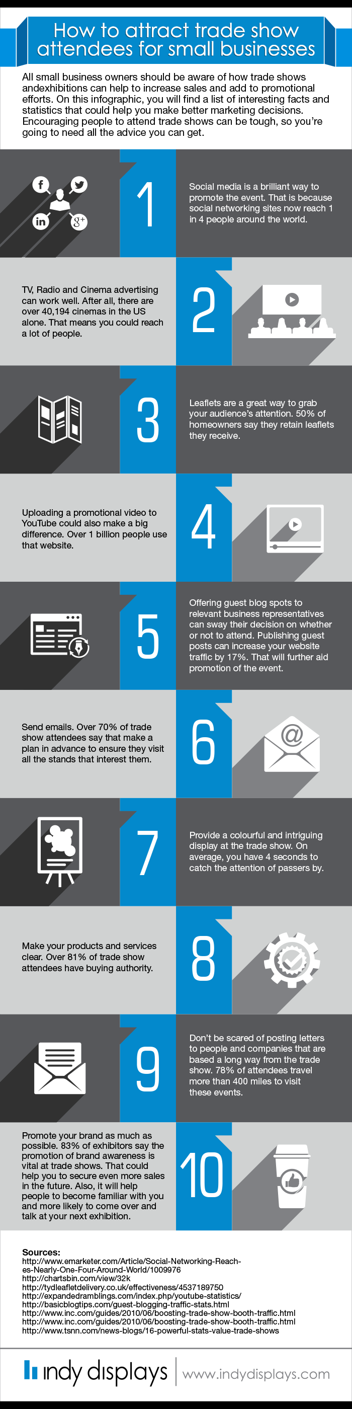 small business trade show marketing infographic