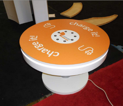 trade show cell charging portable coffee table