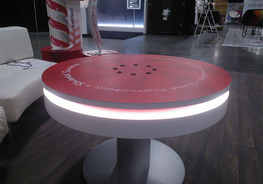 Trade Show Cell Phone Charging Kiosk Table