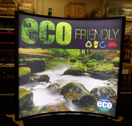 8ft Curved SEG Fabric Lightbox Display