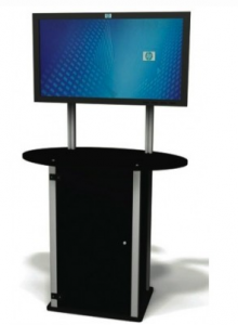 Ultra Portable Exhibitline Kiosk with locking storage