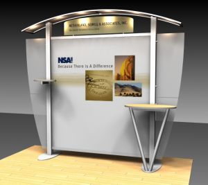 10ft Trade Show Booth Rental