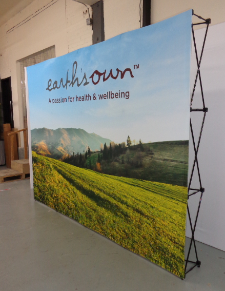 Tension Fabric Popup Display