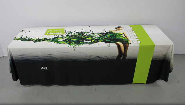 8ft logo trade show table covers