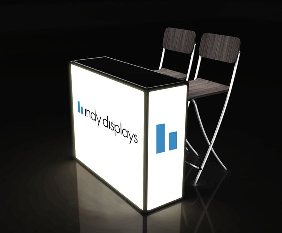 Exhibition Booth Counter : Backlit trade show counters indydisplays