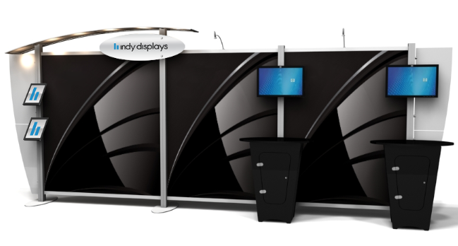 modern custom trade show booth solutions