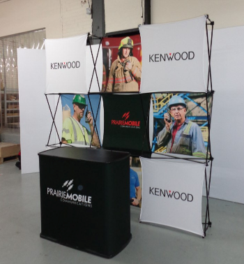 Xpressions 3D Stretch Fabric Pop Up Displays