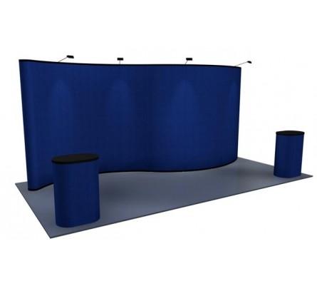 10' x 20' Serpentine Fabric Premium Pop Up Display