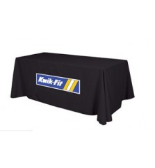 6ft Full Table Cover with Applique Logo