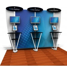 10ft Exhibit Line Kiosk Display Kit