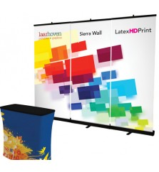 Sierra Retractable Banner Stand Backwall with Counter