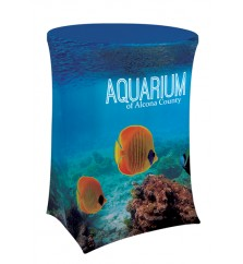 """42.5"""" Round Stretch Dye Sub Table Cover"""