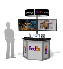 Exhibit Line Double LCD Screen Trade Show Kiosk