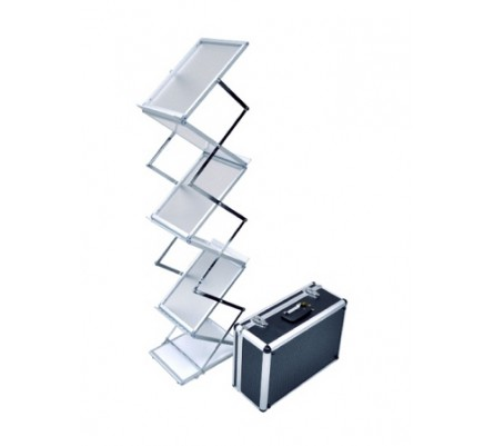 Duramax Lite Trade Show Aluminum Brochure Holder Jpg