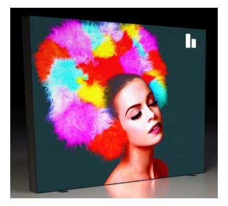 Backlit Pliko Portable Lightbox Trade Show Display