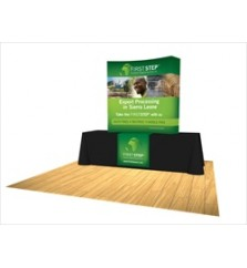 5ft Burst Curved Tabletop Pop Up Display