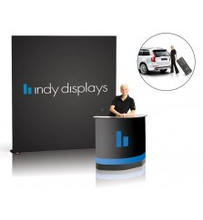 10' Grand Fabric Backdrop Display Package