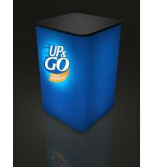 Square Light Box Sales Pedestal