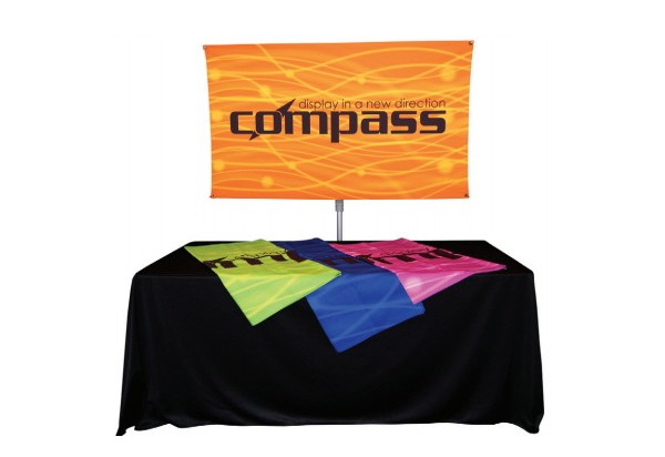 Compass Telescopic Rotating Banner Stand