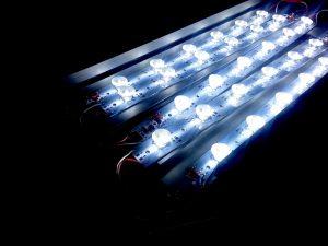 portable edgelit LED backlit display strips