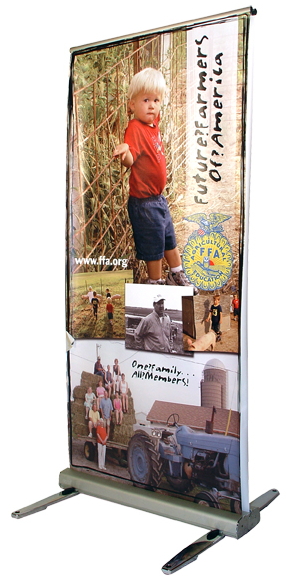 outdoor media banner stand indianapolis, in