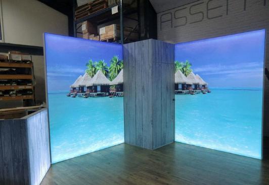 custom backlit display