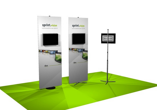 Banner Stand with Monitor Mount