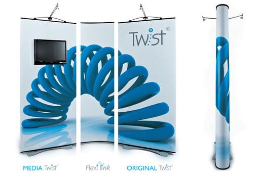 twist multimedia banner stand