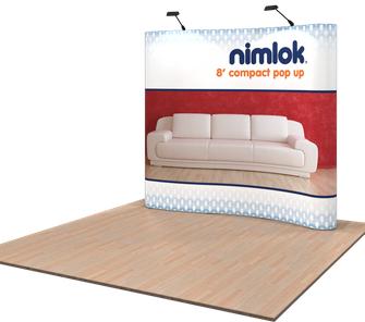 nimlok compact 8ft pop up display