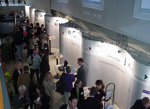 30ft custom conference pop up display