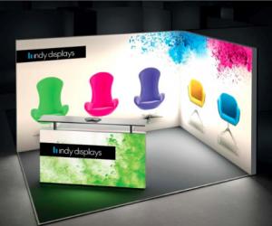 LED Eco Friendly Light Box Exhibit Design