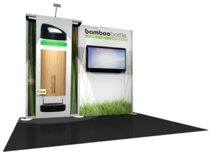 eco friendly trade show display booth solutions