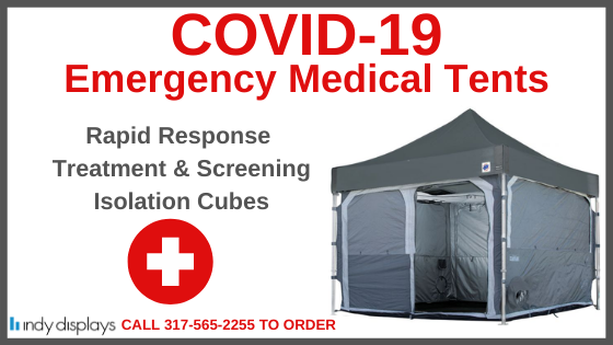 COVID-19 emergency medical tents for screening and treatment