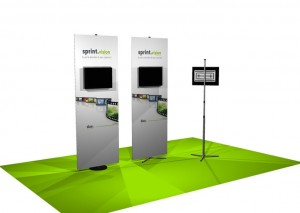 Sprint Banner Stand with Monitor