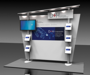 10ft Trade Show Display Rental with Monitor