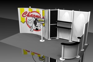 20ft Trade Show Booth Rental with Popup Display